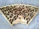 四川仿古花窗实木雕花挂件中式隔断防腐木花箱