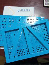 悬挑架钢网片 定型外架网 密目钢板网 圆孔