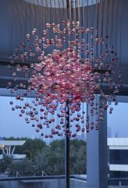 商场吊灯 球泡水晶玻璃灯具