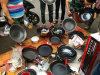 不粘鍋炒鍋平底鍋石頭鍋25元模式跑江湖擺地攤展會商品批發