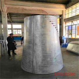 炫彩造型包柱铝单板特点 圆柱铝单板个性构造