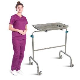 SKH038-1不锈钢双臂升降托盘架 病人推车