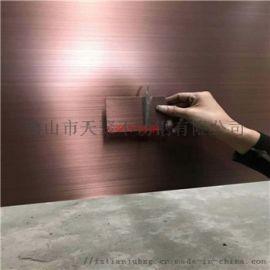 黑古铜拉丝不锈钢板 发黑做旧手工拉丝板