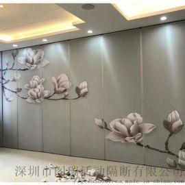 深圳中式餐厅屏风隔音滑轨隔断厂家