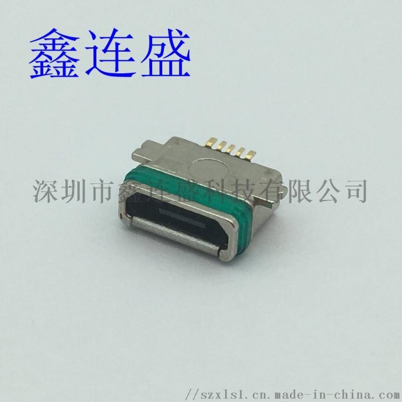 MICOR USB 5P 母座防水全貼 貼板