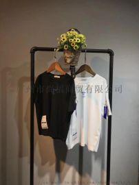 广东折扣童装货源批发19年新款纯棉T恤出货中10元起