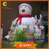 圣诞节雪人DP景观展示  冬季景观  节日装饰