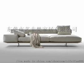布艺沙发小户型 现代简约客厅转角布沙发组合家具套装
