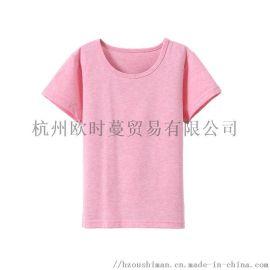 T恤定制厂家 纯棉面料 短袖 简约款女童T恤衫