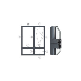 广东兴发铝材创高OC65X系列隔热节能内开内倒窗