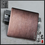 印象派定製生產304發紋褐色不鏽鋼板