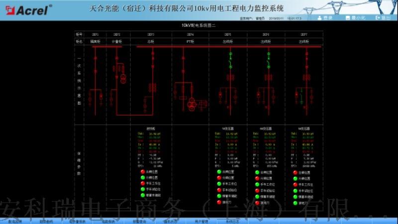 天合光能(宿迁)科技有限公司10kV工程电力监控