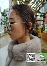 厂家直销韩版新款水貂毛大衣外套免费挂样走份女款