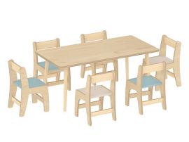 幼儿园家具,实木桌椅,儿童学习桌子-绿森堡新品上市