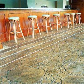 青岛艺术压模地坪压花地坪施工厂家低价供应材料