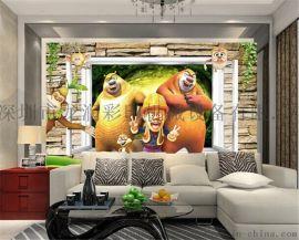 佛山电视3D背景墙瓷砖雕刻机打印机