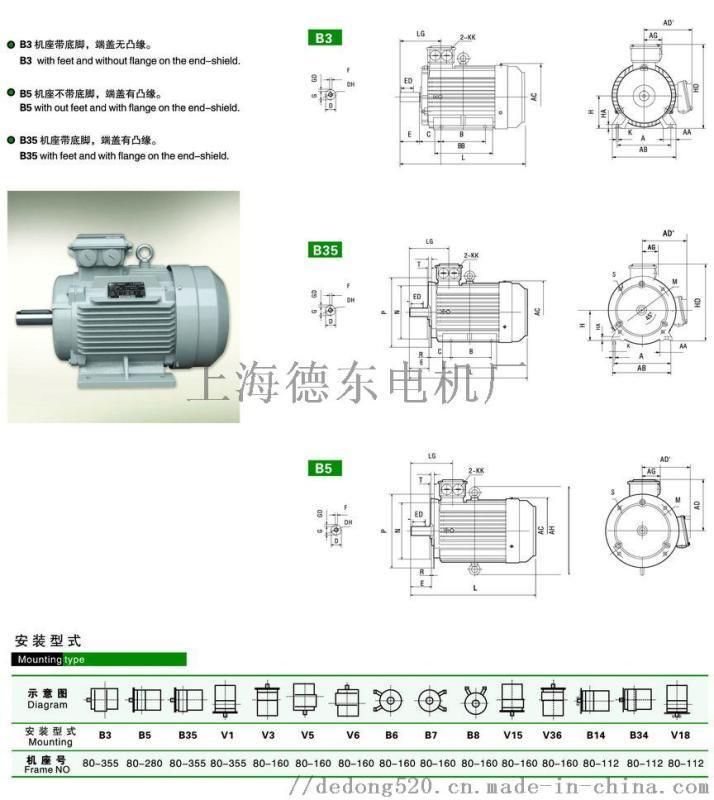 德东原厂   YE2-80M2-4 0.75KW
