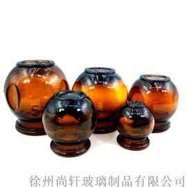 拔火罐 棕色拔火罐 原色玻璃罐