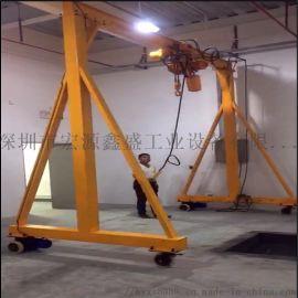 无轨电动龙门架 电机驱动行走 门式单梁起重
