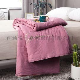 水洗棉绣花夏被床上用品