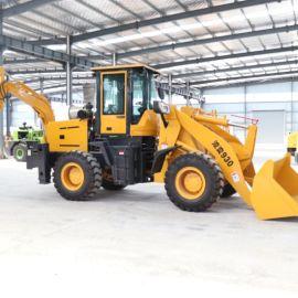 沃特26型两头忙 小型挖掘机铲车 多功能装载机