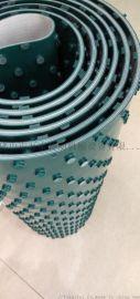 花纹pvc输送带,爬坡带工业皮带, 耐磨防滑输送带
