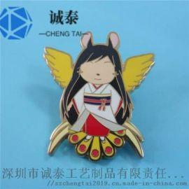 厂家直销日本佩戴胸章定制动漫五金徽章制作