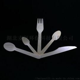 环保一次性刀叉勺,木制,16cm