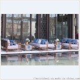 茶餐廳不鏽鋼框架 不鏽鋼卡座休閒沙發 戶外凳定做