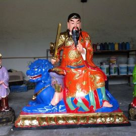 太乙雷声应化尊 都天纠察大灵官 1.3米王灵官雕塑
