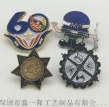 北京金属校徽定制 珐琅胸章制作 磁铁胸徽定做厂家