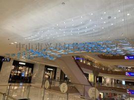 商场艺术吊灯 琉璃玻璃灯具定制