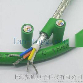 4芯綠色高柔性總線電纜_profinet網線