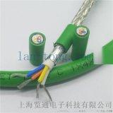 4芯绿色高柔性总线电缆_profinet网线