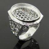 925銀戒託工廠裸鑽婚戒定製寶石鑲嵌廣州工藝首飾定做金工廠家