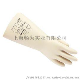 霍尼韦尔2091921电工绝缘手套 耐低温乳胶手套