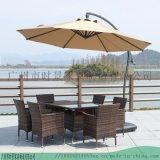 供应咖咖啡厅戶外遮陽傘-木中柱直杆伞-铝合金侧边伞