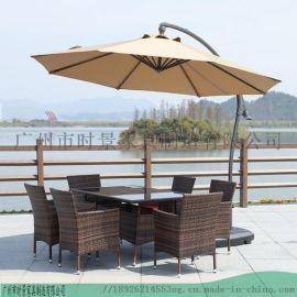 供應咖咖啡廳戶外遮陽傘-木中柱直杆傘-鋁合金側邊傘