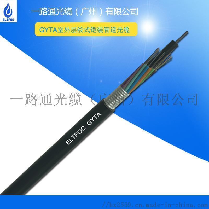 12芯室外鎧裝層絞式光纜GYTA材質定製加工