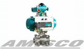 美國AMISCO進口氣動三片式球閥