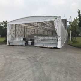 移动遮阳棚大型仓库伸缩雨棚停车帐篷推拉蓬