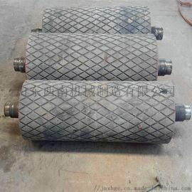 经久耐用的1.2米包胶皮带机改向滚筒