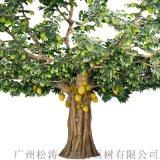 廣州仿真鳳梨蜜樹廠家人造假包柱大樹定制仿真樹批發