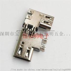 Type-c6P侧插母座侧立式90度简易插座