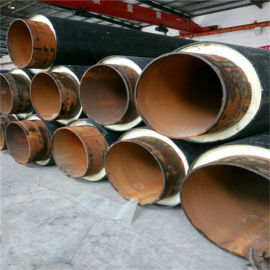 广西 鑫龙日升 聚氨酯黑夹克预制保温管DN20/25直埋聚氨酯保温钢管
