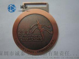 大学生马拉松奖牌运动会奖牌金属浮雕古红铜奖牌