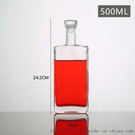 玻璃红葡萄酒瓶500ml玻璃瓶厂家
