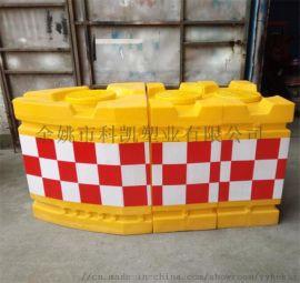 船形防撞桶 组合式防撞墩 三联组防撞墩 道路防撞墩