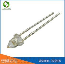 3mm尖头暖黄光led灯珠 f3尖头发光二极管灯珠