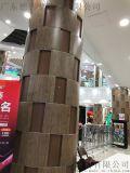 菲林入口圓形包柱鋁單板 木紋圓柱鋁單板 方柱鋁單板